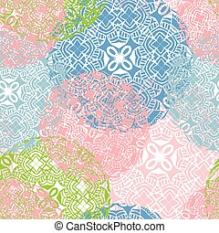 Vector seamless pattern with stylized flowers.