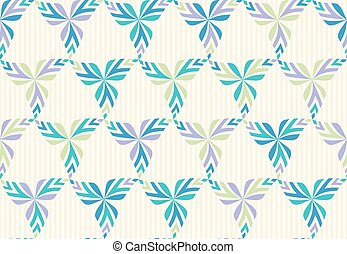 Vector seamless pattern with stylized leaves.