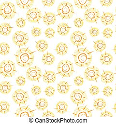 Vector seamless pattern with suns