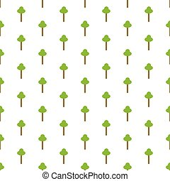 Vector seamless pattern with trees icon elements. Repeatable green tree elements on a white background