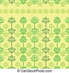 vector seamless pattern with trees yellow
