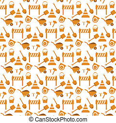 vector seamless pattern working tools   background