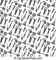 vector seamless pattern working tools icon
