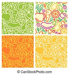 Vector seamless patterns and abstract backgrounds with ...