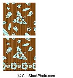 Vector seamless patterns - Vector aloha seamless patterns...