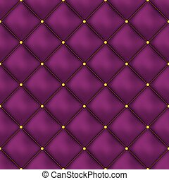 Vector seamless pink buttoned leather pattern vector. Upholstery or walls.