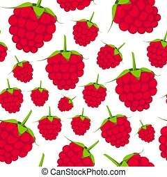 Vector seamless pink pattern on white. Bright fruit background
