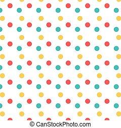 Vector, seamless polka dot pattern, background.
