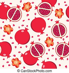 vector seamless pomegranate background pattern