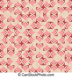 Vector seamless random geometric irregular pattern with abstract hands and geometric shapes background for fabric, wallpaper, scrapbooking projects or backgrounds.