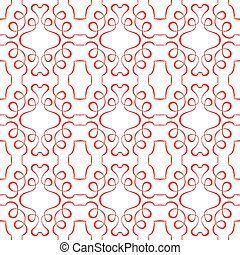 Vector seamless red pattern on a white background. wallpaper