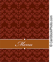 Vector seamless redish pattern, design illustration - 1