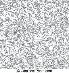 vector, seamless, resumen, simple, monocromo, patrón, con, concéntrico, curvo, círculos, -, eps8