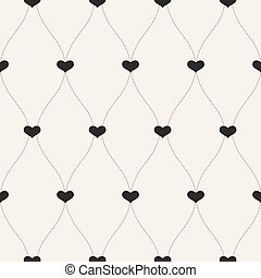 Vector seamless retro pattern. Background for Valentines Day.