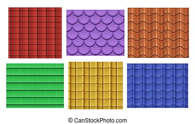 Vector seamless roof tiles