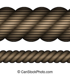 vector seamless rope
