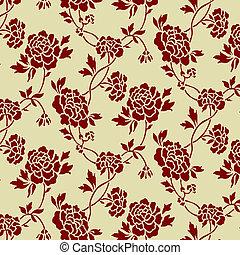 Vector Seamless Rose Pattern