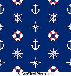 vector seamless sea pattern