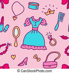 sketch cosmetics pattern