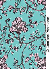 sketch floral pattern