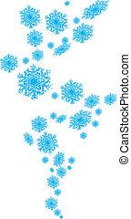 Vector,  -,  seamless, sneeuwvlok
