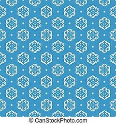 vector seamless snowflake background pattern