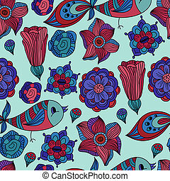 vector seamless spring floral pattern