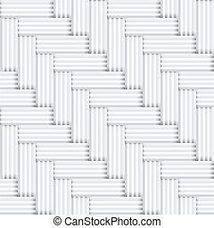 Vector seamless square white and black pattern - vintage halftone parquet background