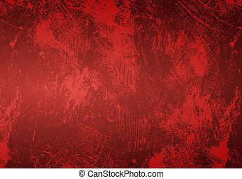 red grunge background