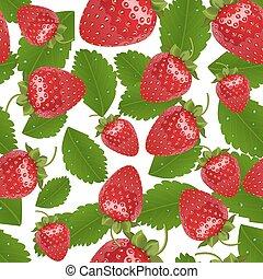 Vector seamless strawberries pattern