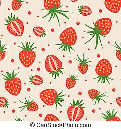 vector seamless strawberry pattern