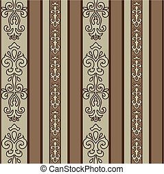 Vector Seamless Striped Pattern - Detailed background...