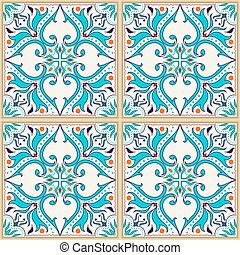 Vector seamless texture. Beautiful colored pattern for design and fashion with decorative elements