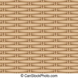 Vector seamless texture of a wicker basket. Rattan weave.