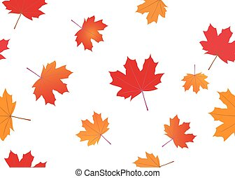 vector seamless texture with autumn
