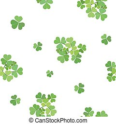 vector seamless texture with clover