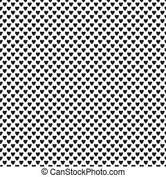 Vector seamless texture with hearts on a white background