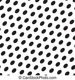 Vector seamless texturee with black eggs on a white background