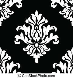 Vector Seamless Tile - Vector floral pattern. Seamless tile...