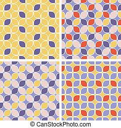 Vector seamless tiling patterns - geometric