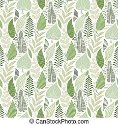 Vector Seamless Tough Pattern with Flowers