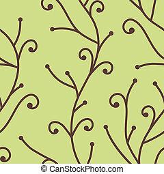 vector seamless tree branch pattern