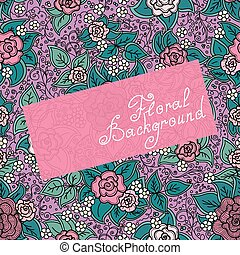 vector seamless varicolored floral pattern
