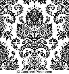 Vector Seamless Victorian Pattern.