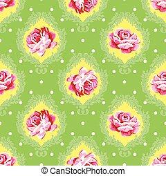 Vector seamless vintage floral patt