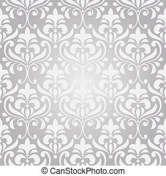 vector seamless vintage floral pattern on gradient background