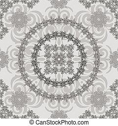vector seamless vintage floral retro pattern