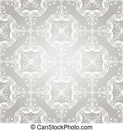 Vector seamless  vintage lacy  floral pattern