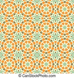 Vector seamless vintage pattern. Floral geometric ornament....