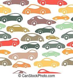 Vector Seamless Vintage Racing Cars Pattern
